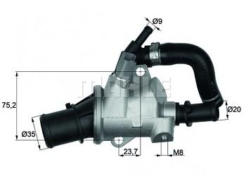 Termostat ALFA ROMEO 147 (937) GT (937) 1.9 (88°)