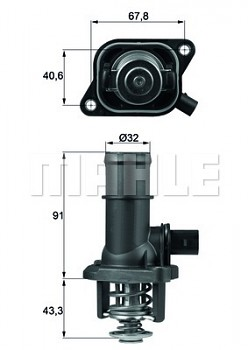 Termostat AUDI A3 (8L) 1.6 (105°)