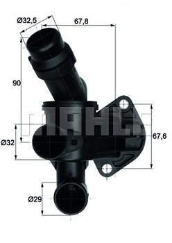 Termostat AUDI A4 (B7 8E 8H) A6 (4F C6) 2.0 (87°)